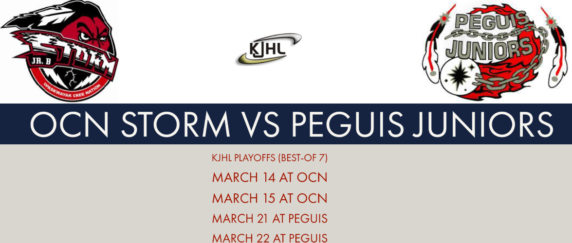 Peguis, OCN to clash in KJHL Playoffs